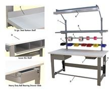 1,600 LB. CAPACITY ROOSEVELT SERIES WORKBENCHES - WITH LISSTAT™ ESD TOP